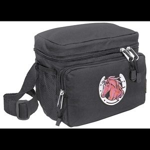 Handbags - Black Lunchbox Lunch Box with Horse in Horseshoe